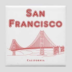SanFrancisco_10x10_GoldenGateBridge_L Tile Coaster