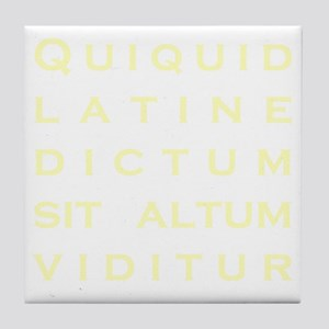 Anything sounds profound in Latin - P Tile Coaster