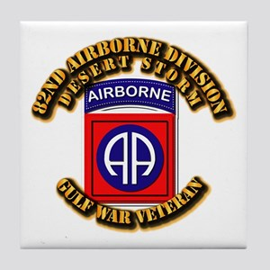Army - DS - 82nd ABN DIV - DS Tile Coaster