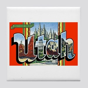 Utah Greetings Tile Coaster