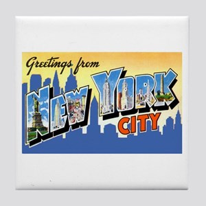 New York City Greetings Tile Coaster