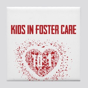 Make a Difference to a Foster Child Tile Coaster