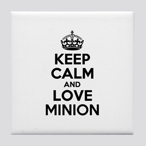 Keep Calm and Love MINION Tile Coaster