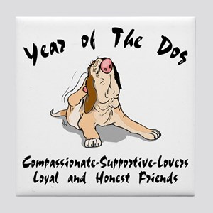 Funny Year of The Dog Tile Coaster