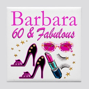FUN FABULOUS 60TH Tile Coaster