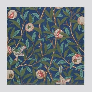 Bird and Pomegranate by William Morris Tile Coaste