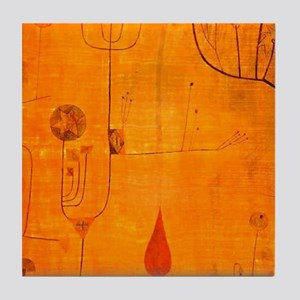 Fruits on Red, Paul Klee painting Tile Coaster