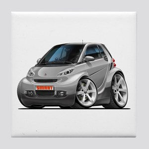 Smart Silver Car Tile Coaster