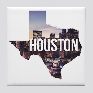 Houston, Texas Tile Coaster