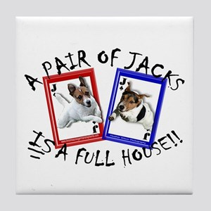 "Jack Russell Terrier ""PAIR OF JACKS"" Tile Coaster"