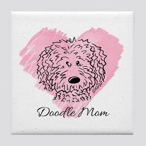 KiniArt Doodle Mom Tile Coaster