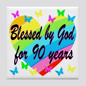 90TH PRAYER Tile Coaster