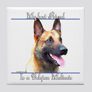 BelgianMal Best Friend2 Tile Coaster