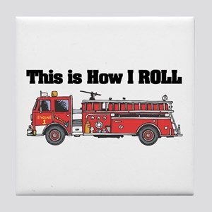 How I Roll (Fire Engine/Truck) Tile Coaster