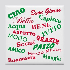 Italian Sayings Tile Coaster