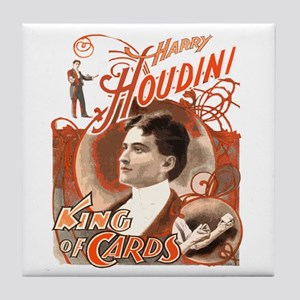 Retro Harry Houdini Poster Tile Coaster