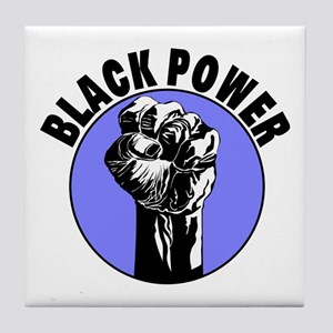Black Power Tile Coaster