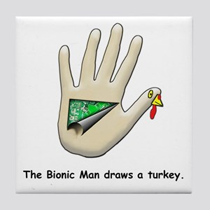 Bionic Turkey Tile Coaster