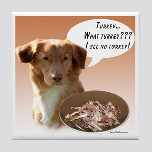Toller Turkey Tile Coaster