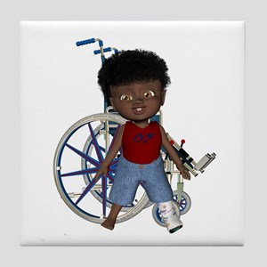 Keith Broken Left Leg Tile Coaster