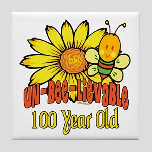 Un-Bee-Lievable 100th Tile Coaster