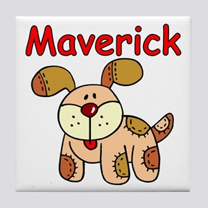 Maverick Puppy Tile Coaster