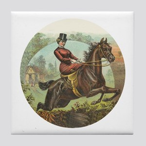 Jumping Horse Art Tile