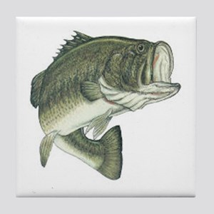 Large Mouth Bass Tile Coaster
