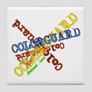 Spinning Colorguard Tile Coaster