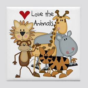 Love the Animals Tile Coaster