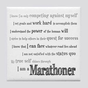 I Am a Marathoner Tile Coaster