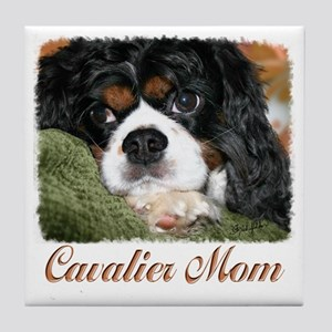 Cavalier Mom Tile Coaster