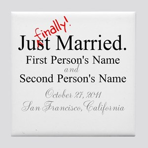 Finally Married Tile Coaster