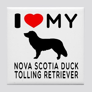 I Love My Nova Scotia Duck Tolling Retriever Tile