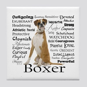 Boxer Traits Tile Coaster