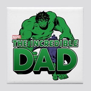 The Incredible Dad Tile Coaster