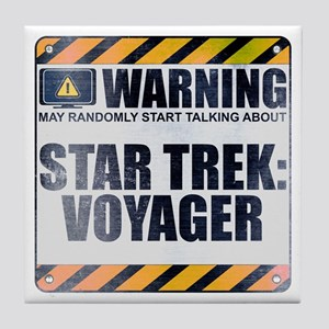 Warning: Star Trek: Voyager Tile Coaster