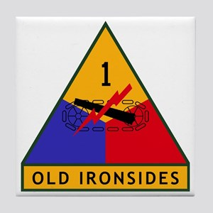 1st_US_Armored_Division_SSI Tile Coaster