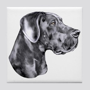 Great Dane HS Blue UC Tile Coaster