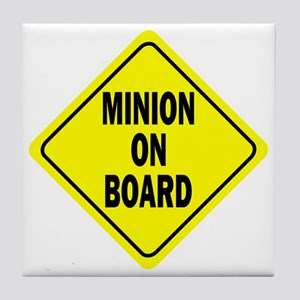 Minion on Board Car Sign Tile Coaster