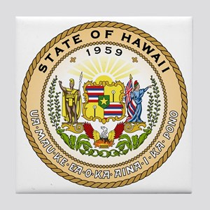 Hawaii State Seal Tile Coaster