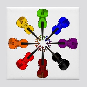 circle_of_violins Tile Coaster
