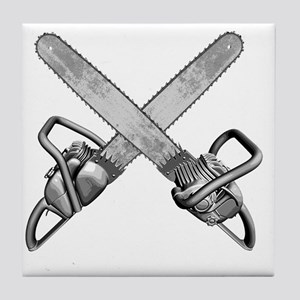 chainsaws Tile Coaster