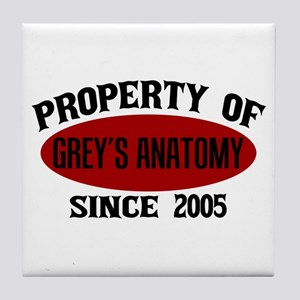 Property of Grey's Anatomy Tile Coaster