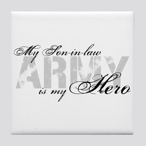 Son-in-law is my Hero ARMY Tile Coaster