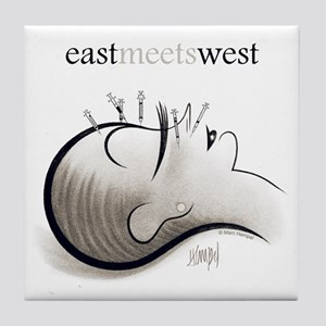 East Meets West Tile Coaster