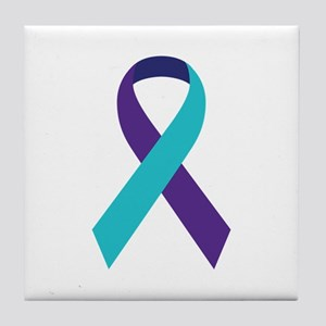 Suicide Awareness Ribbon Tile Coaster