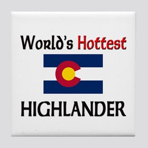World's Hottest Highlander Tile Coaster