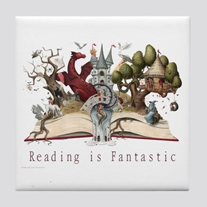 Reading is Fantastic II Tile Coaster