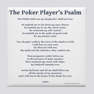 Poker Psalm Tile Coaster